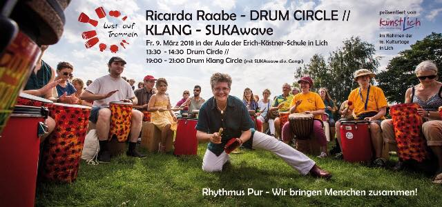 Flyer_Drum_Klang_Circle_Licher_Kulturtage_2018